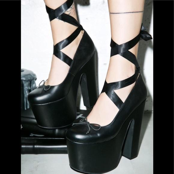 d1a6a7ddb87 Dolls Kill Shoes - Sugar Thrillz  Death On Pointe  Platforms